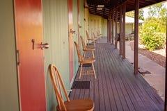 Длинный деревянный тенистый австралийский Verandah стоковое изображение rf