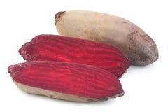 Длинный овощ корня свеклы на белизне Стоковые Изображения RF