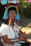 длинняя женщина шеи Стоковые Фотографии RF