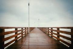длинняя пристань деревянная Стоковая Фотография RF