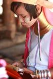 длинняя триба Таиланда шеи Стоковое Фото