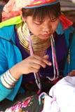 длинняя триба Таиланда шеи Стоковые Фото