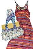 Длинняя юбка с сумкой стоковое изображение rf