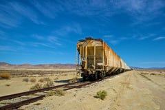 Длиной ржавея поезд Стоковые Изображения