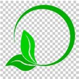 Для вашего дизайна элемента логотипа, зеленая граница круга концепции, на прозрачной предпосылке влияния иллюстрация штока