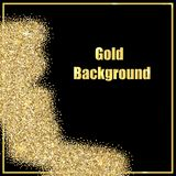 image of gold sequins on a black background . vector illustration