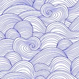 Decorative seamless pattern. Vector illustration with abstract waves or dunes. royalty free illustration