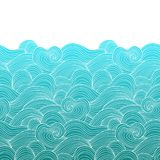 Decorative seamless pattern. Vector illustration with abstract waves or dunes. vector illustration