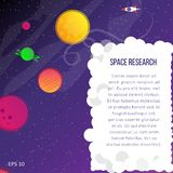 bright planets and stars stock illustration