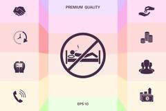 Для некурящих в кровати - значке запрета Графические элементы для вашего дизайна бесплатная иллюстрация