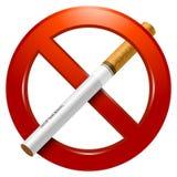 Для некурящих знак Стоковое фото RF