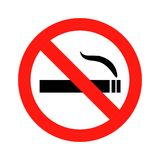 Для некурящих иллюстрация Стоковое Изображение RF