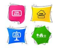 Для продажи значки Продавать недвижимости вектор бесплатная иллюстрация
