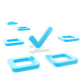 Для того чтобы сделать список, тикайте в изолированной коробке проверки Стоковая Фотография RF