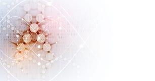 Дна и предпосылка медицинских и технологии футуристическая молекула s Стоковое Фото
