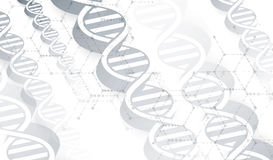 Дна и предпосылка медицинских и технологии футуристическая молекула Стоковые Изображения RF