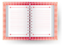 Дневник влюбленности с линией Стоковая Фотография