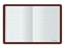 дневник открытый Стоковая Фотография RF