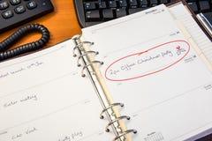 Дневник рождественской вечеринки офиса Стоковая Фотография RF