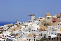 Дневное время в Oia, Santorini, Греции Стоковые Изображения RF