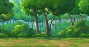 Дневное время леса предпосылки Стоковое Изображение