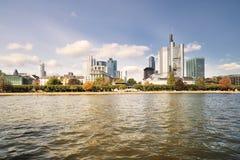 дневное время frankfurt городского пейзажа Стоковое Фото