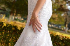 Дни осени в свадьбе запаса стоковые фотографии rf