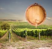 Дно бочонка вина на белой предпосылке Стоковое Изображение