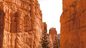 Дно ВВЕРХ ПО национальному парку каньона Bryce горы песка красному оранжевому Стоковые Фото