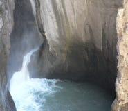 Дно Ouray Колорадо каньона коробки стоковое фото rf