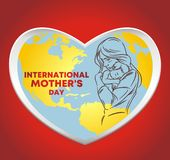 Дн-логотип международной матери бесплатная иллюстрация