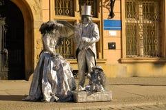 Художник улицы в WrocÅaw, Польша Стоковая Фотография