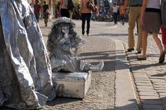 Художник улицы в WrocÅaw, Польша Стоковое фото RF