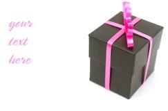 добавлять черный текст подарка стоковые фото