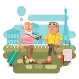 50 добавочное - путешествовать пар Иллюстрация штока