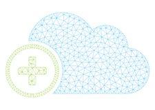 Добавьте иллюстрацию сетки вектора рамки облака полигональную иллюстрация вектора