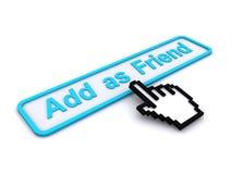 добавьте как друг кнопки Стоковая Фотография RF
