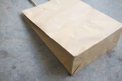 добавьте логос конструкции коричневого цвета мешка сделанный иметь ходить по магазинам рециркулированный бумагой ваш Стоковая Фотография