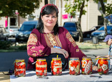 Добившийся успеха своими силами законсервированные томаты Стоковая Фотография
