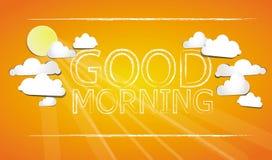 Доброе утро на небе иллюстрация штока