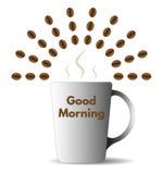 Доброе утро с кофе бесплатная иллюстрация