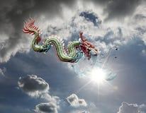 доброжелательный дракон небесный Стоковое Изображение RF