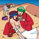 добросердечный самаритянин иллюстрация вектора