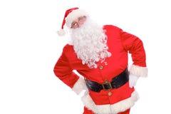 Добросердечный Санта Клаус, изолированный на белой предпосылке Стоковое Фото