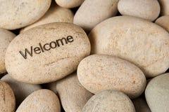 Добро пожаловать камень Стоковая Фотография