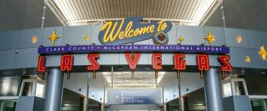 Добро пожаловать к авиапорту Лас-Вегас - ЛАС-ВЕГАС/НЕВАДЕ - 20-ое октября 2017 Стоковая Фотография