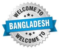 добро пожаловать к значку Бангладеша Стоковые Изображения RF