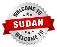 добро пожаловать к значку Судана Стоковые Изображения RF