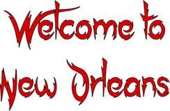 Добро пожаловать к иллюстрации текста Нового Орлеана Стоковые Изображения