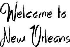 Добро пожаловать к иллюстрации текста Нового Орлеана Стоковое Изображение